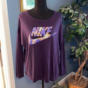 Nike Purple half sleeve top